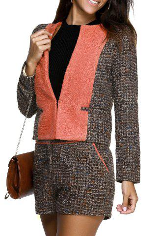 Cheap One ButtonTweed Coat and Tweed Shorts