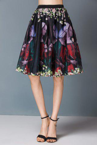 Trendy Pleated Floral Ball Gown Skirt