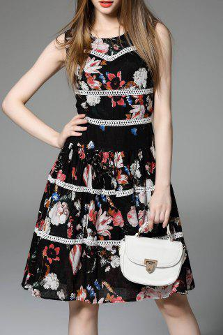Shop Flower Print Flounce Hem Dress