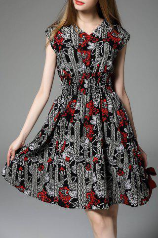 Store Printed Zip Up Mini Dress
