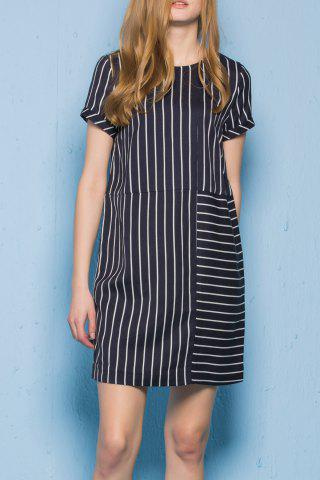 Store Zippered Striped Dress
