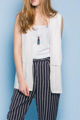 Shop Patched Solid Color Waistcoat
