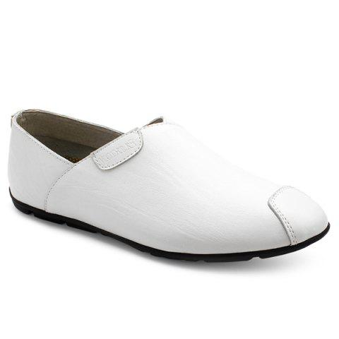 Outfits Simple PU Leather and Solid Color Design Loafers For Men
