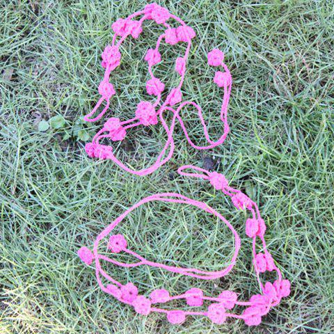 Outfits Handmade Hollow Out Flower Girl Anklets - LIGHT PINK  Mobile