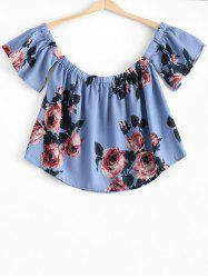 Fashionable Off The Shoulder Floral Crop Top For Women -