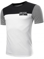 Casual Color Block Striped Gym T-Shirt For Men