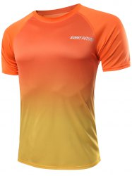 Casual Ombre Color Gym T-Shirt For Men -