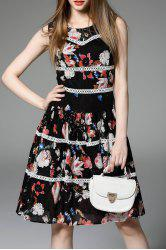 Flower Print Flounce Hem Dress -