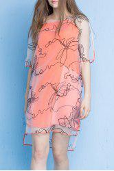 Embroidery High Low Dress -