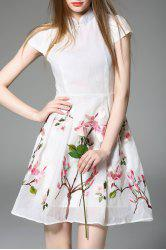 Short Embroidered A Line Dress -