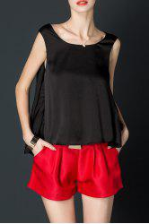 Asymmetric Silk Tank Top -