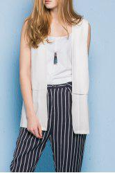 Patched Solid Color Waistcoat -