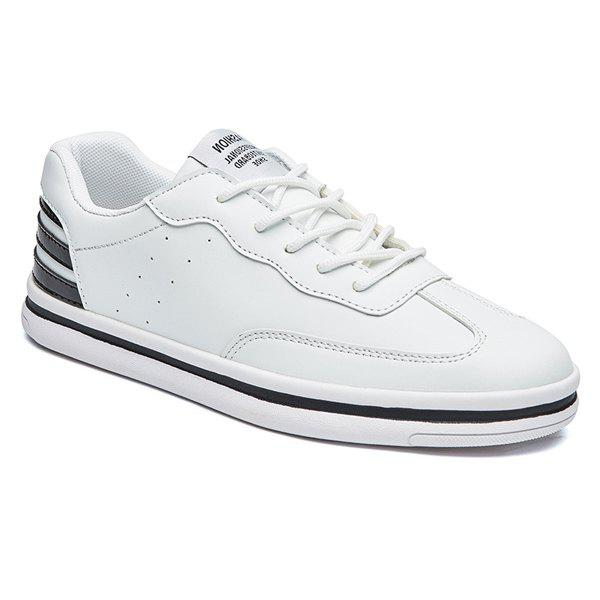 Best Sports Style Stripe and PU Leather Design Casual Shoes For Men
