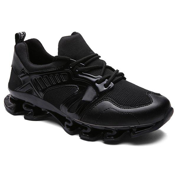 Buy Stylish Splicing and Mesh Design Athletic Shoes For Men