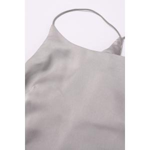 Ruched Asymmetric Cami Tank Top -