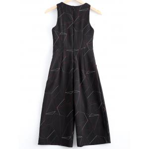 Fashionable Sleeveless Print Jumpsuit  For Women -