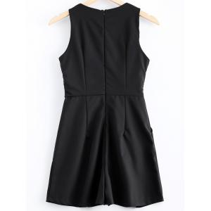 Simple Sleeveless Fold Romper For Women -