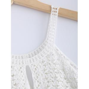 Stylish Lace Openwork Spaghetti Strap Tank Top For Women -