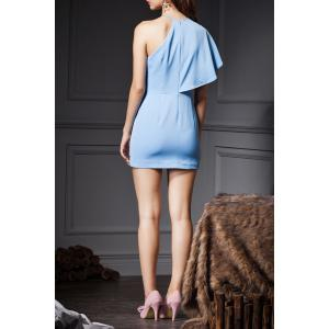 Flounce One Shoulder Mini Dress -