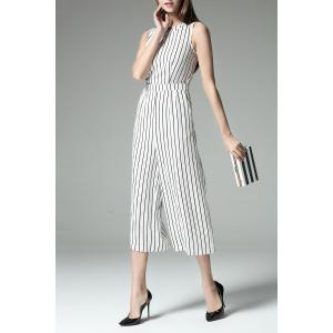 Slimming Striped Wide Leg Jumpsuit -