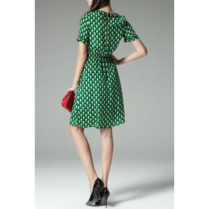 Elastic Waist Polka Dot Dress -