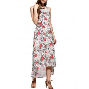 Criss Cross Backless Floral Maxi Summer Dress