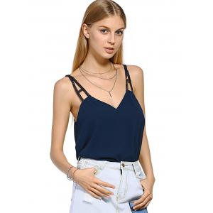 Casual  Stylish Cut Out V Neck Tank Top -