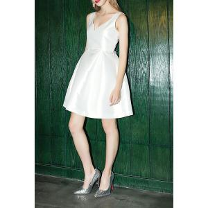 Satin Mini A Line Dress -