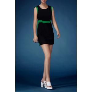 Hit Color Mini Sheath Dress -