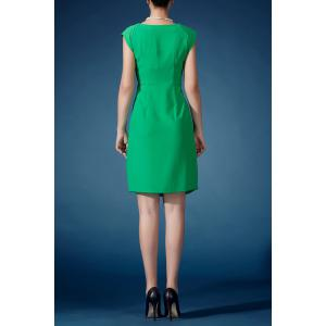 Solid Color Sheath Dress -
