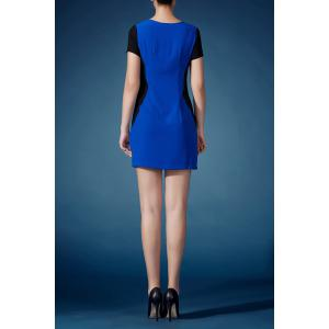 Cut Out Hit Color Sheath Dress -