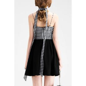 Short Plaid A Line Slip Dress -