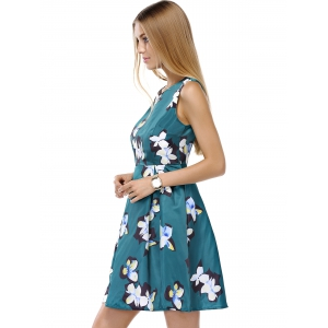Sleeveless Floral Race Day Dress -
