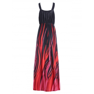 Plus Size Plunging Neck Maxi Formal Party Dress -