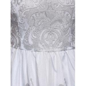 High Waist Laced Embroidery Dress -