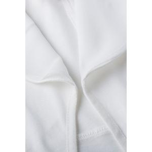 Three Quarter Sleeve Shawl Collar White Blazer -