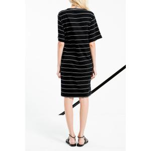 High Low Stripe Shift Dress -