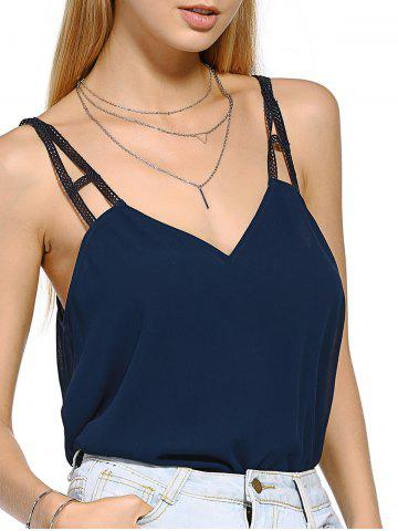 Hot Casual  Stylish Cut Out V Neck Tank Top