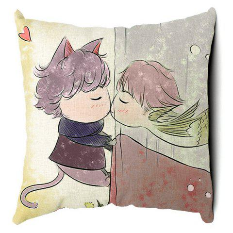 Fashion Charming Cartoon Animal Pattern Square Pillow Case(Without Pillow Inner)