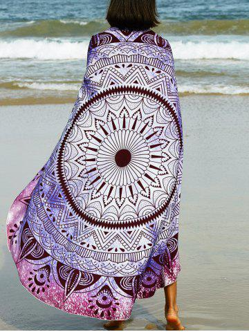 Outfit Bohemian Tribal Print Round Sarong Beach Throw PURPLE ONE SIZE(FIT SIZE XS TO M)
