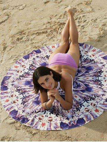 Outfits Bohemian Colored Tribal Print Circle Beach Sarong For Women