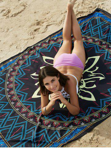 Unique Bohemian Colored Tribal Print Beach Sarong For Women