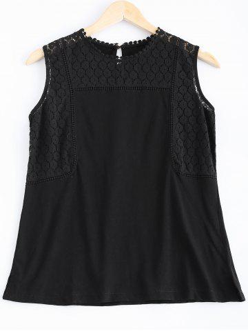 Store Casual Openwork Lace Tank Top For Women