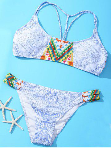 Fashion Halter Geometric Strappy Bikini