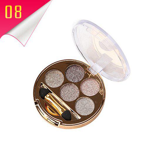 Online Stylish 5 Colours Long Wear Brightening Shimmery Diamond Eyeshadow Palette with Brush