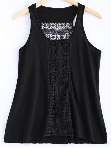 Trendy Stylish Lace Openwork Tank Top For Women