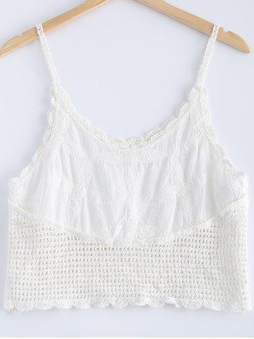 Outfit Fashionable Openwork Spaghetti Strap Crochet Tank Top For Women