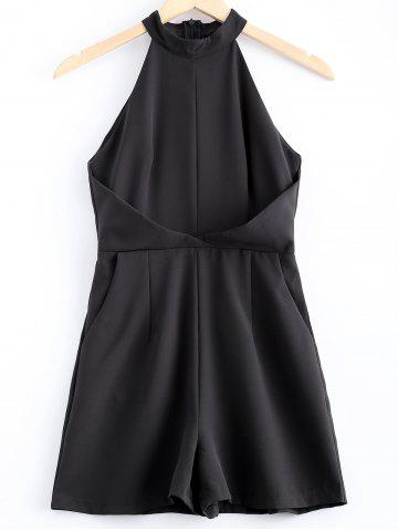 Affordable Simple Sleeveless Stand Collar Romper For Women