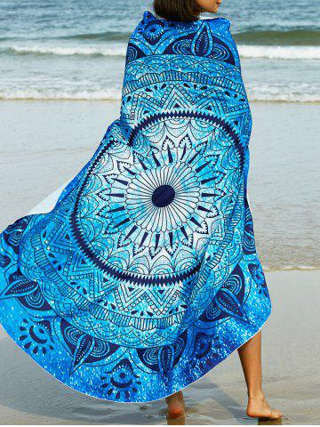 New Abstract Tribal Print Sarong Beach Throw BLUE ONE SIZE(FIT SIZE XS TO M)
