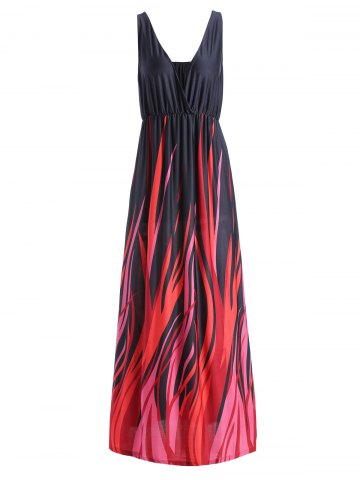 Store Plus Size Plunging Neck Maxi Formal Party Dress